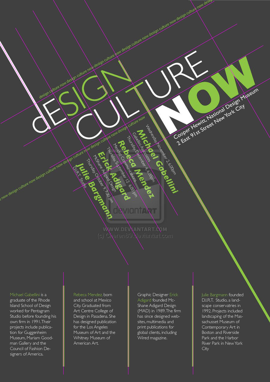 Poster design los angeles - Design Culture Now On The Letters D T And W